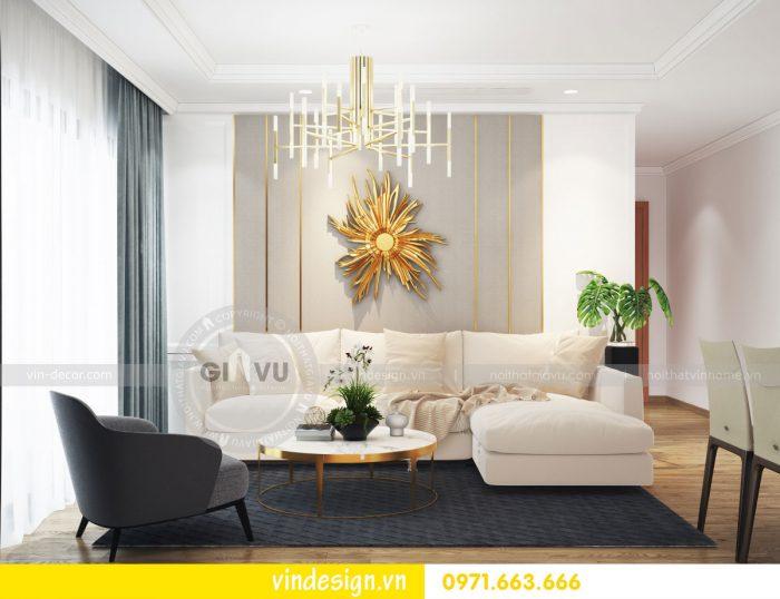 thiết kế nội thất căn hộ 05 tòa A2 chung cư gardenia 2 ngủ 02