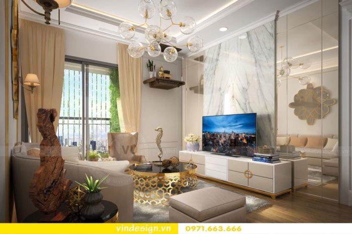 thiết kế nội thất căn 07 tòa A2 chung cư gardenia 02