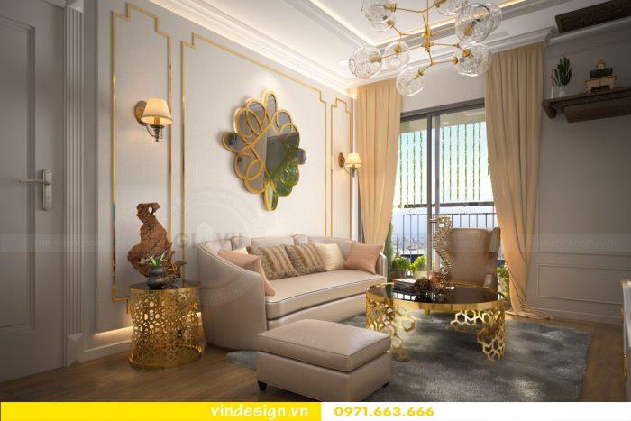 thiết kế nội thất căn 07 tòa A2 chung cư gardenia 03