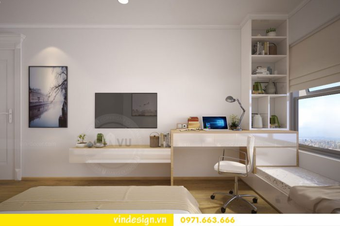thiết kế nội thất căn 07 tòa A2 chung cư gardenia 08