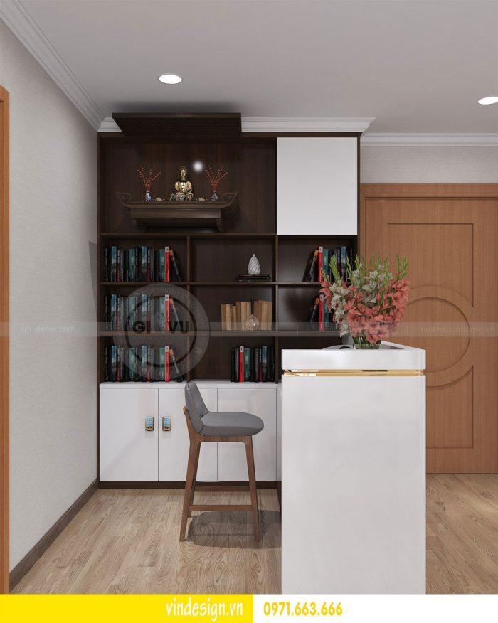 Thiết kế nội thất căn 03 tòa A1 chung cư gardenia 3 ngủ đẹp 07