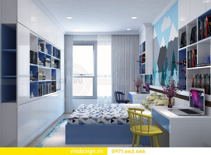 Thiết kế nội thất căn 03 tòa A1 chung cư gardenia 3 ngủ đẹp 16