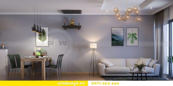 Thiết kế nội thất căn 07 tòa A1 chung cư Gardenia 03