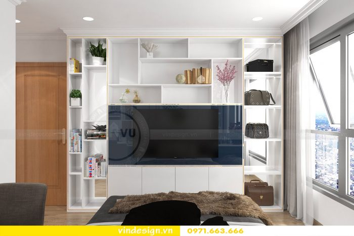 Thiết kế nội thất chung cư gardenia tòa A3 căn 01 đẹp 9
