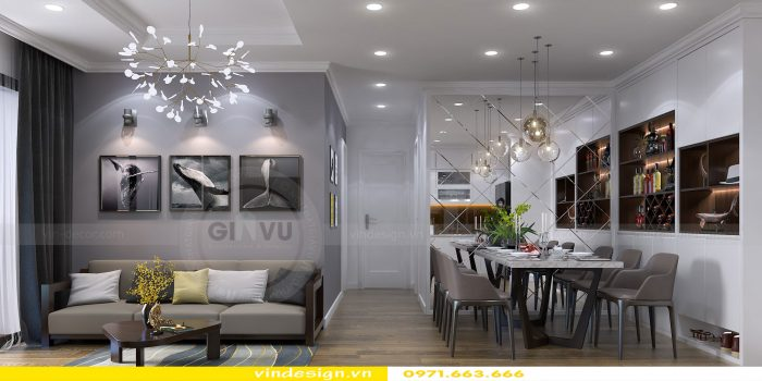 Thiết kế nội thất chung cư gardenia tòa A3 căn 04 số 4