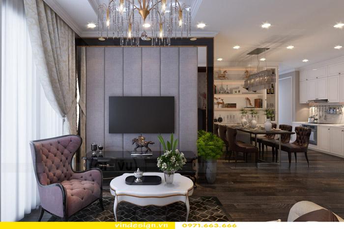 Thiết kế nội thất Gardenia theo phong cách tân cổ điển 2