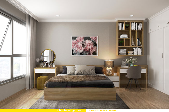 Thiết kế nội thất Vinhomes Gardenia tòa A3 căn 12 view 10
