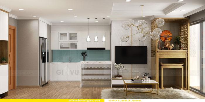 Thiết kế nội thất Vinhomes Gardenia tòa A3 căn 12 view 5