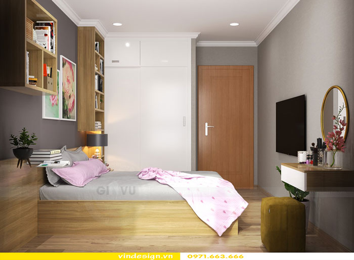Thiết kế nội thất Vinhomes Gardenia tòa A3 căn 12 view 8