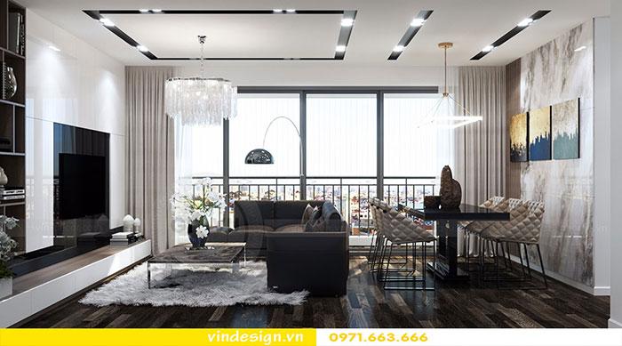 Thiết kế nội thất chung cư D'Capitale tòa C3 căn 06 view 4