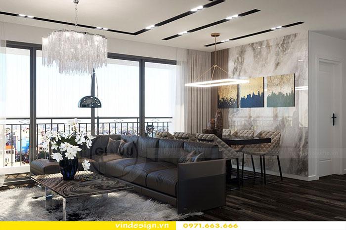 Thiết kế nội thất chung cư D'Capitale tòa C3 căn 06 view 5