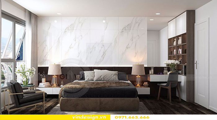 Thiết kế nội thất chung cư D'Capitale tòa C3 căn 06 view 7