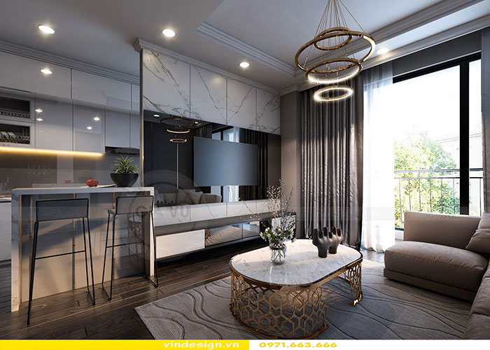 dịch vụ thiết kế thi công nội thất chung cư trọn gói tại Hà Nội 06