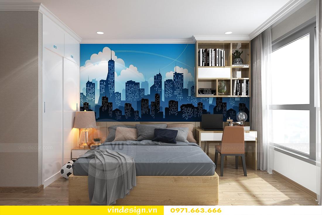 mẫu thiết kế nội thất chung cư Metropolis căn hộ 4 phòng ngủ 16
