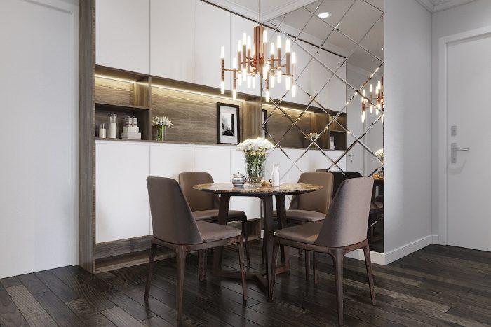 thiết kế nội thất chung cư Green Bay hiện đại 001