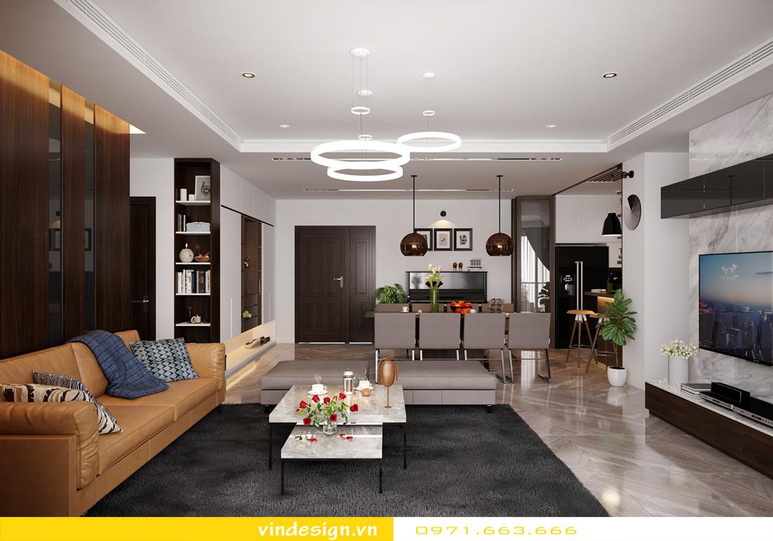 thiết kế nội thất chung cư Metropolis căn hộ 3 phòng ngủ 03