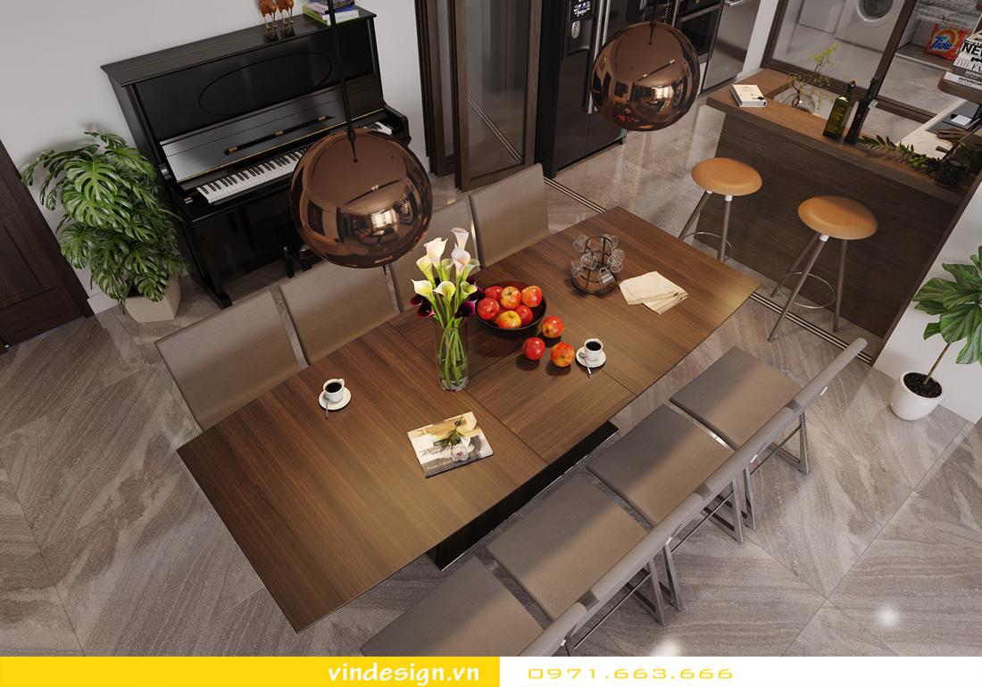 thiết kế nội thất chung cư Metropolis căn hộ 3 phòng ngủ 06