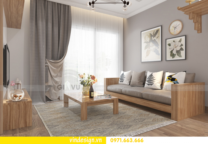 thiết kế thi công nội thất hiện đại chung cư D Capitale 006