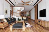 thiết kế nội thất nhà phố 2 tầng không gian hiện đại sang trọng 001