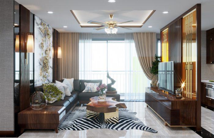thiết kế nội thất căn hộ chung cư Metropolis 1