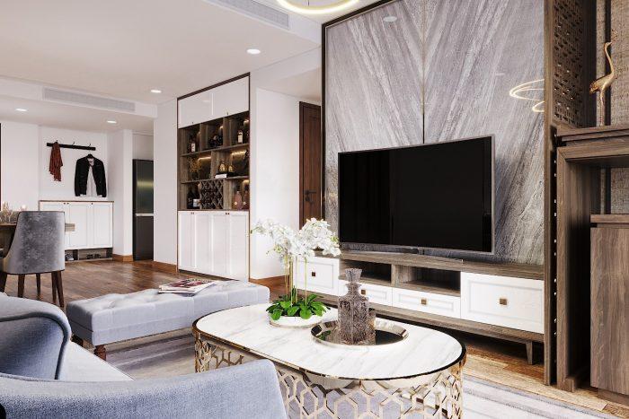 thiết kế nội thất chung cư Ancora số 3 Lương Yên