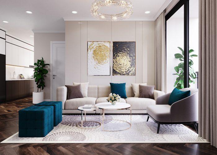 thiết kế nội thất chung cư vinhomes DCapitale tòa C6 căn 01