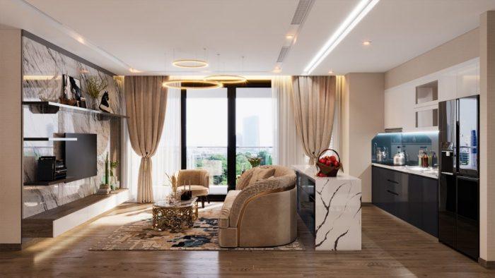 mẫu thiết kế nội thất chung cư Vinhomes Metropolis tòa M1 căn 01