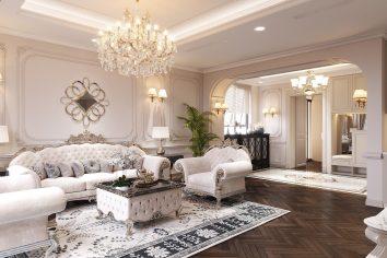 thiết kế nội thất chung cư Green Bay căn hộ đập thông