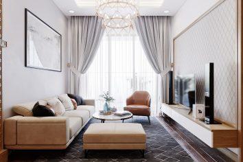 Thiết kế nội thất căn hộ chung cư 789 Ngoại Giao Đoàn nhà anh Dương