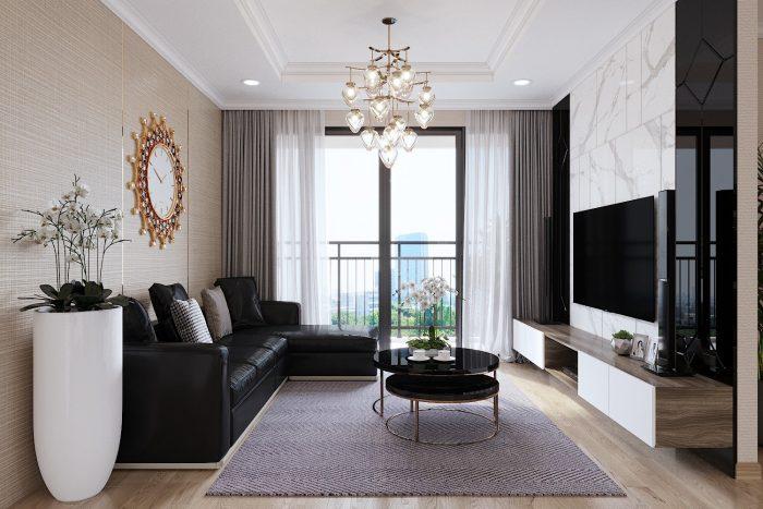 thiết kế nội thất căn hộ Skylake tòa S2 nhà chị Thu