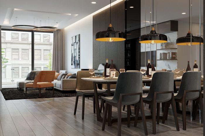 thiết kế nội thất chung cư Vinhomes Liễu Giai tòa M3 căn 03