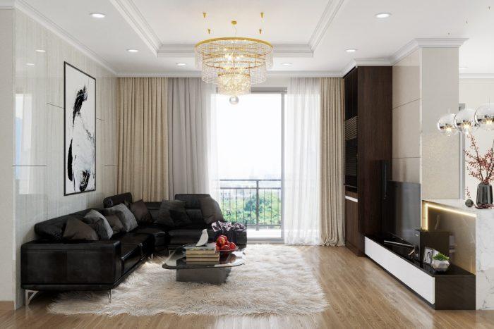 thiết kế thi công nội thất căn hộ chung cư Park Hill 12 nhà chị Hà