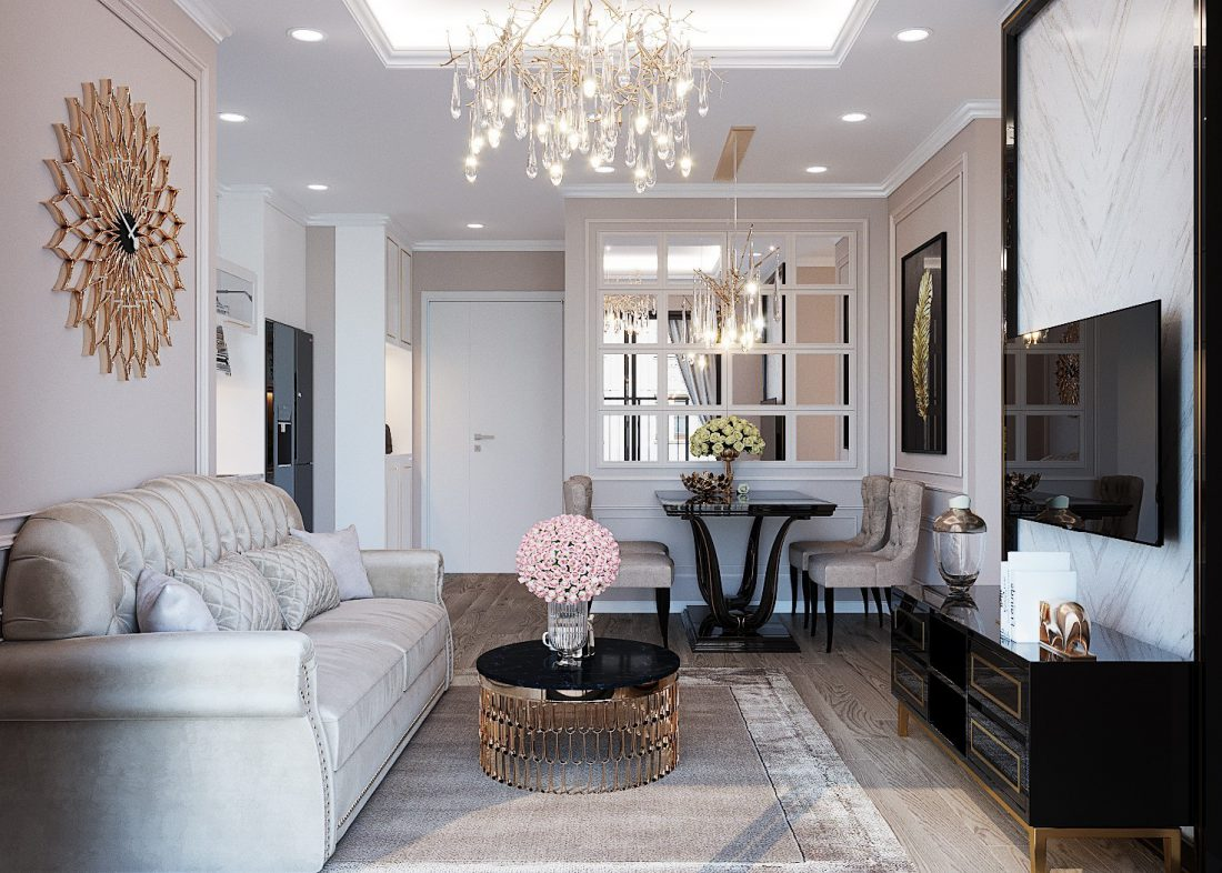 thiết kế nội thất căn hộ Green Bay tòa G3 căn hộ 11