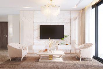 thiết kế nội thất chung cư Vinhomes Metropolis tòa M3 căn hộ 10 nhà cô Liễu