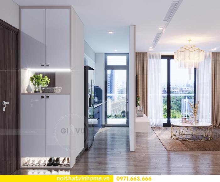 thiết kế thi công nội thất chung cư Metropolis tòa M3 căn 10 nhà cô Liễu 01