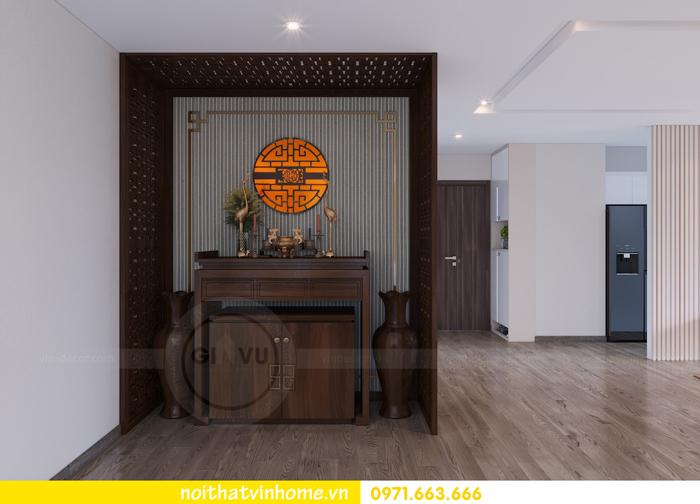 thiết kế thi công nội thất chung cư Metropolis tòa M3 căn 10 nhà cô Liễu 05