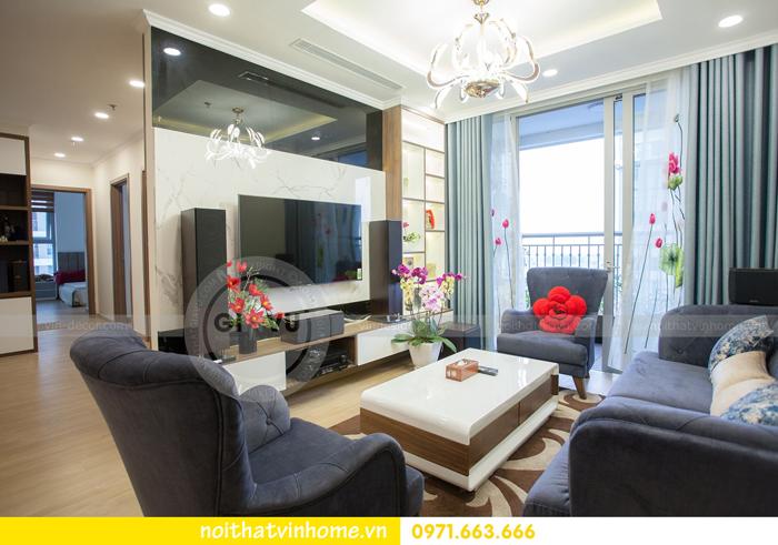 thi công hoàn thiện nội thất căn hộ 03 tòa A2 Vinhomes Gardenia 09