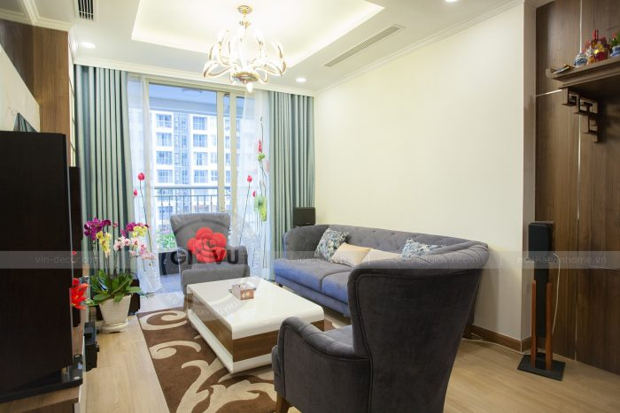 thi công hoàn thiện nội thất căn hộ 03 tòa A2 Vinhomes Gardenia anh Hưởng
