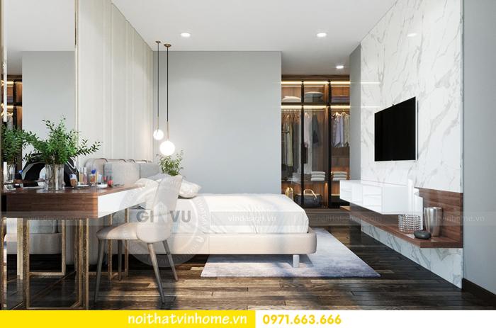 thiết kế nội thất chung cư Vinhomes Sky lake tòa S2 căn 06 view10