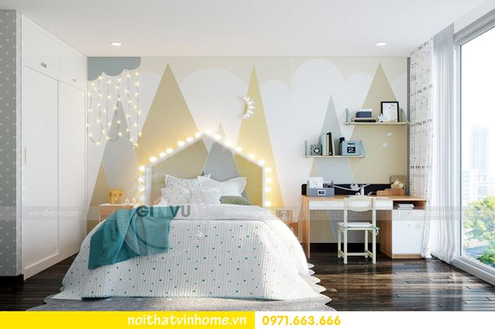 thiết kế nội thất chung cư Vinhomes Sky lake tòa S2 căn 06 view11
