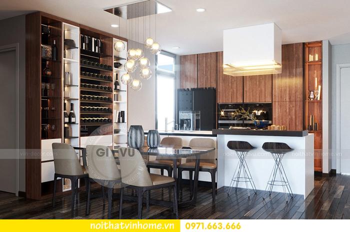 thiết kế nội thất chung cư Vinhomes Sky lake tòa S2 căn 06 view2