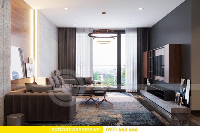 thiết kế nội thất chung cư Vinhomes Sky lake tòa S2 căn 06 view4