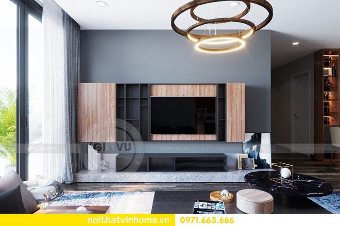 thiết kế nội thất chung cư Vinhomes Sky lake tòa S2 căn 06 view5