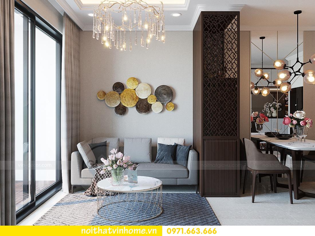 thiết kế hoàn thiện nội thất chung cư D Capitale căn 01 tòa C1 nhà anh Nam 05