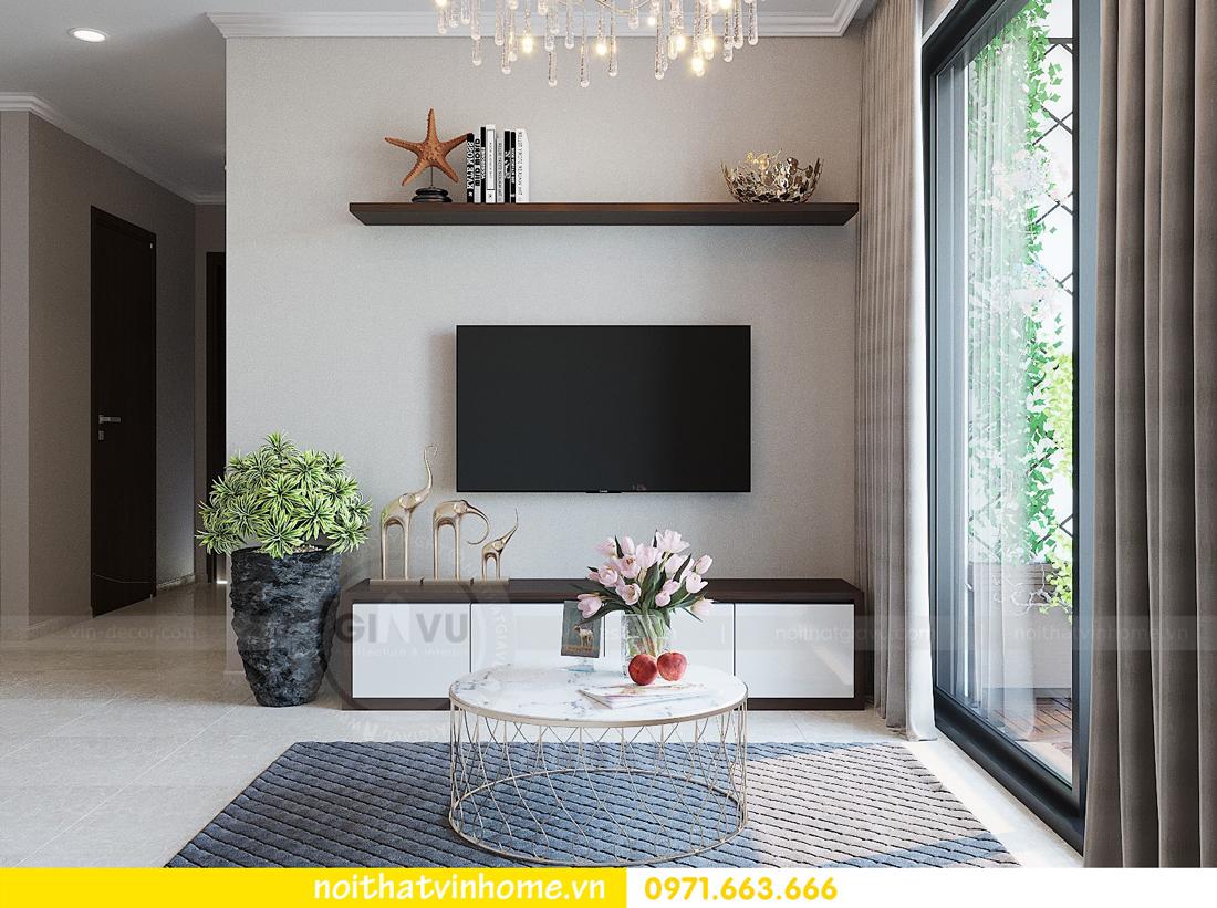 thiết kế hoàn thiện nội thất chung cư D Capitale căn 01 tòa C1 nhà anh Nam 06