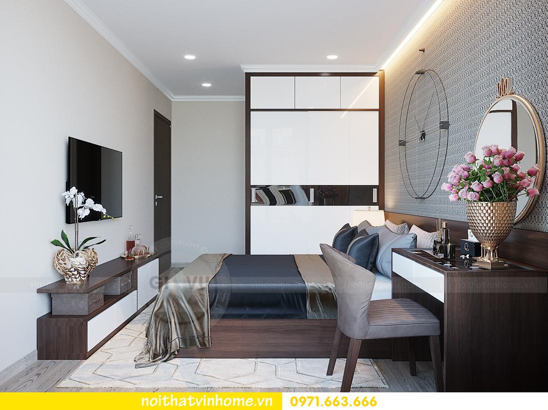 thiết kế hoàn thiện nội thất chung cư D Capitale căn 01 tòa C1 nhà anh Nam 09