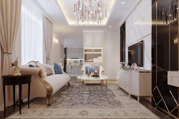 thiết kế nội thất căn hộ cao cấp tại Vinhomes Green Bay nhà chị Thu