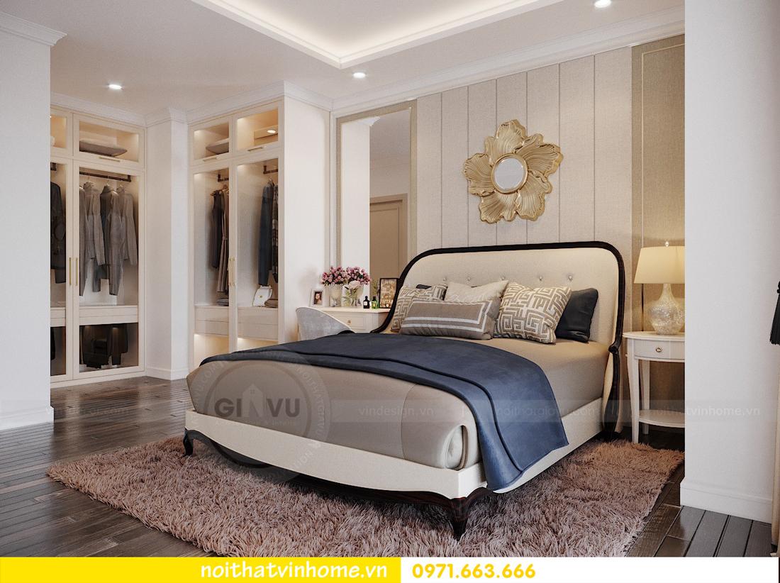 thiết kế nội thất căn hộ cao cấp Vinhomes Green Bay tòa G1 05 05A 10