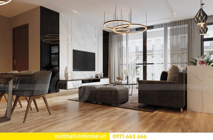 thiết kế nội thất chung cư Vinhomes Liễu Giai nhà chú Hiệp 02
