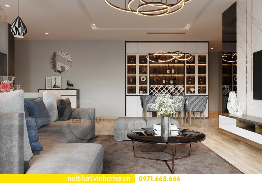thiết kế nội thất chung cư Vinhomes Liễu Giai nhà chú Hiệp 04